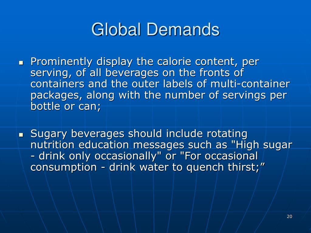 Global Demands