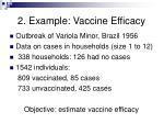 2 example vaccine efficacy