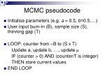 mcmc pseudocode