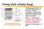 penning cold cathode gauge