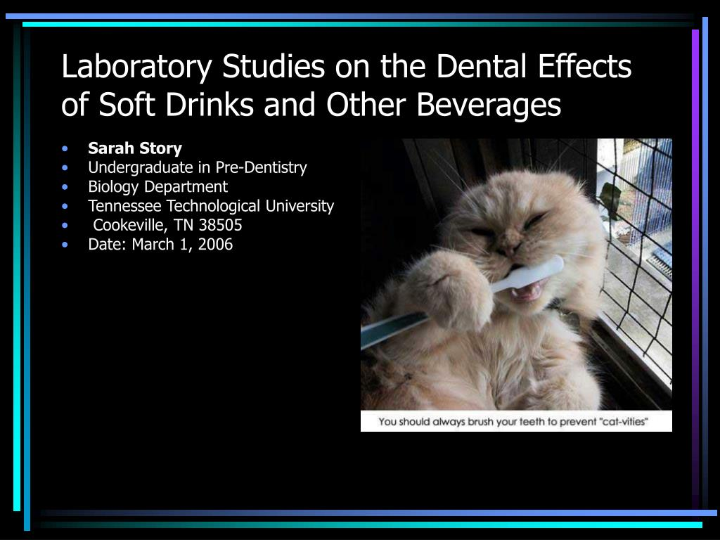 laboratory studies on the dental effects of soft drinks and other beverages l.