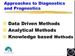 approaches to diagnostics and prognostics