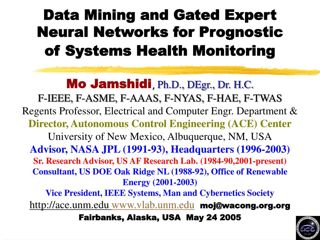 data mining and gated expert neural networks for prognostic of systems health monitoring l.