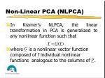 non linear pca nlpca