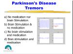parkinson s disease tremors
