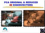 pca original reduced 40 eigenvectors