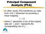 principal component analysis pca20