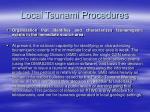 local tsunami procedures
