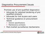 diagnostics procurement issues