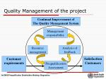 quality management of the project