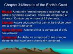 chapter 3 minerals of the earth s crust