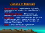 classes of minerals