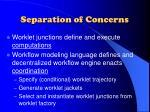 separation of concerns