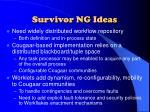 survivor ng ideas