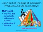 can you eat the big fat industries tm products and still be healthy22