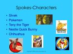 spokes characters