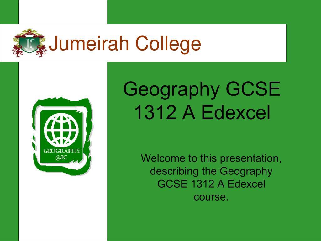 geography gcse 1312 a edexcel l.