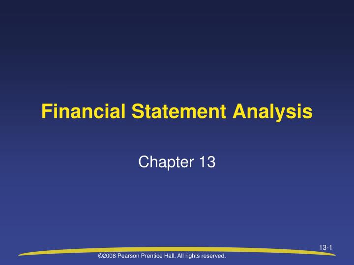 financial statement analysis n.