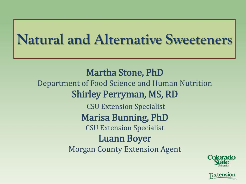 natural and alternative sweeteners l.