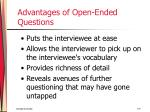 advantages of open ended questions