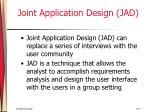 joint application design jad