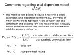 comments regarding axial dispersion model adm
