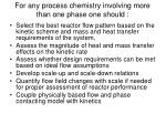 for any process chemistry involving more than one phase one should