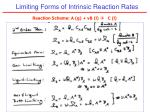 limiting forms of intrinsic reaction rates