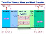 two film theory mass and heat transfer