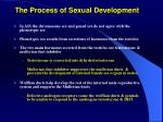 the process of sexual development