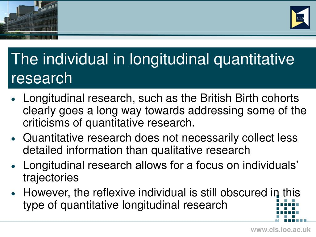 The individual in longitudinal quantitative research