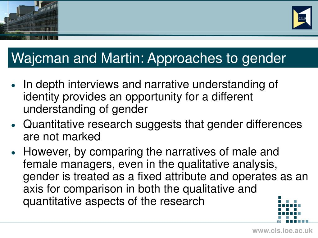 Wajcman and Martin: Approaches to gender