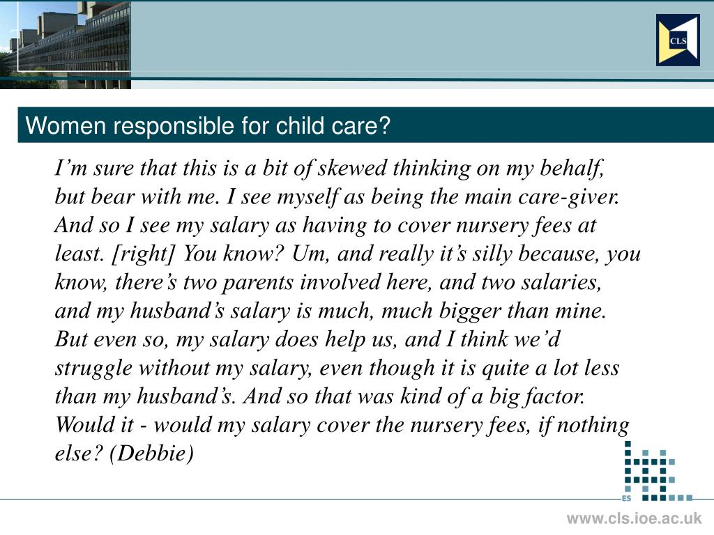 Women responsible for child care?