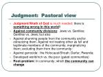 judgment pastoral view