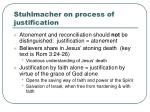 stuhlmacher on process of justification
