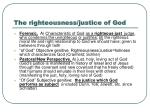 the righteousness justice of god