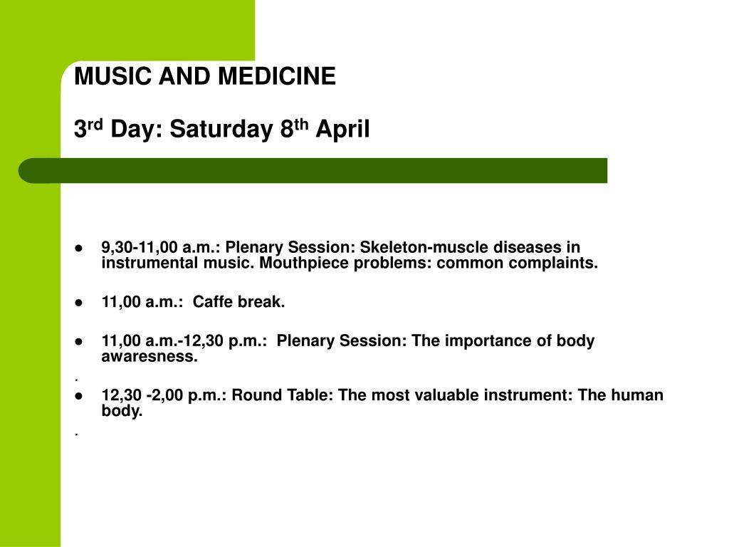 MUSIC AND MEDICINE