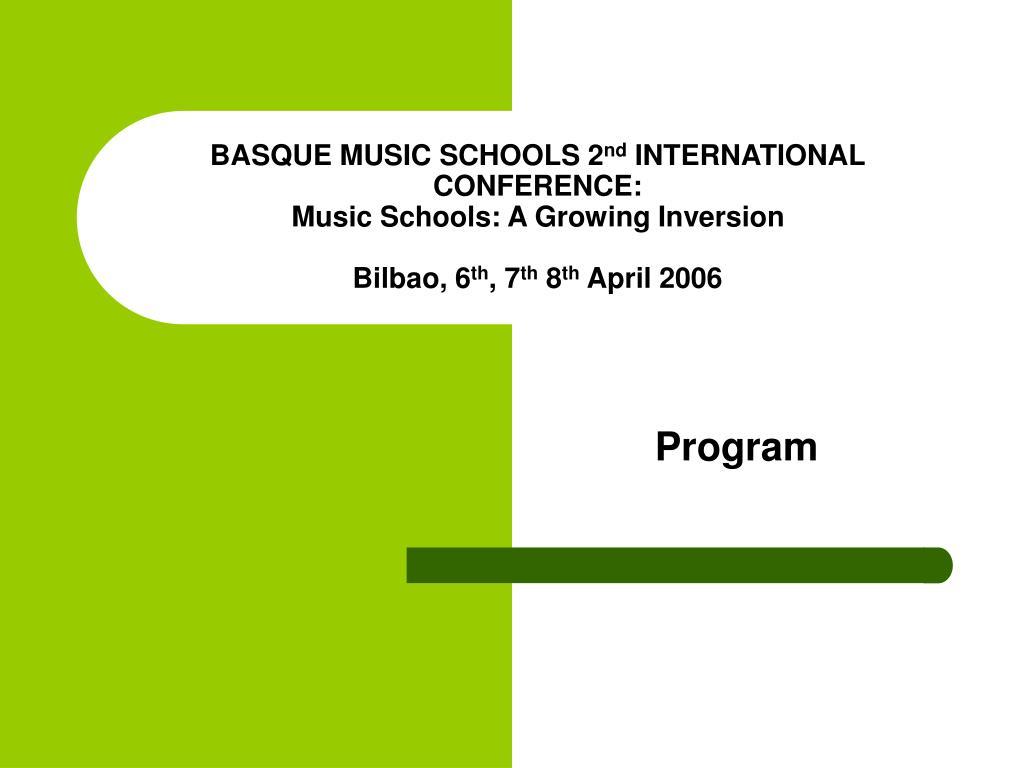 BASQUE MUSIC SCHOOLS 2