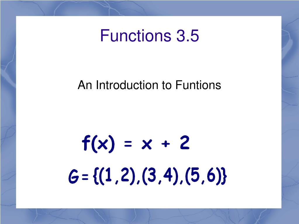 functions 3 5 l.