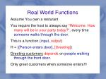 real world functions