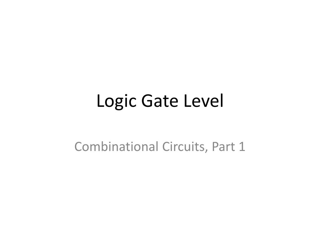 logic gate level l.