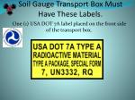 soil gauge transport box must have these labels
