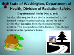 state of washington department of health division of radiation safety