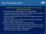 unix portability up