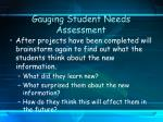 gauging student needs assessment15