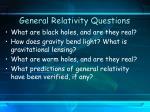general relativity questions8