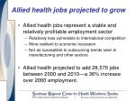 allied health jobs projected to grow