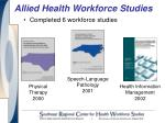 allied health workforce studies