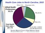 health care jobs in north carolina 2003