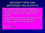 descent from jan martense van alsteyn